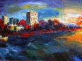 2010 Batumi, Oil on canvas, 60x100 cm.  2001